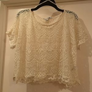 Forever 21 Lace Crop Top size XL